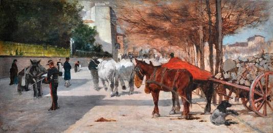Giovanni Fattori, Viale Principe Amedeo a Firenze, 1880-81. © Istituto Matteucci, Viareggio