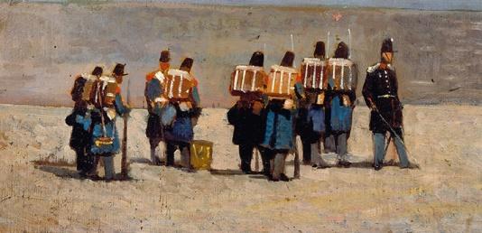 Giovanni Fattori, Soldati francesi del '59, 1859 ca. © Istituto Matteucci, Viareggio